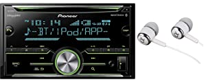 Pioneer Double DIN In-Dash Built-in Bluetooth, CD AM/FM MP3, Front USB, Pandora, iHeartRadio and Spotify, SiriusXM Satellite Radio Ready Car Stereo Receiver / Free ALPHASONIK Earbuds
