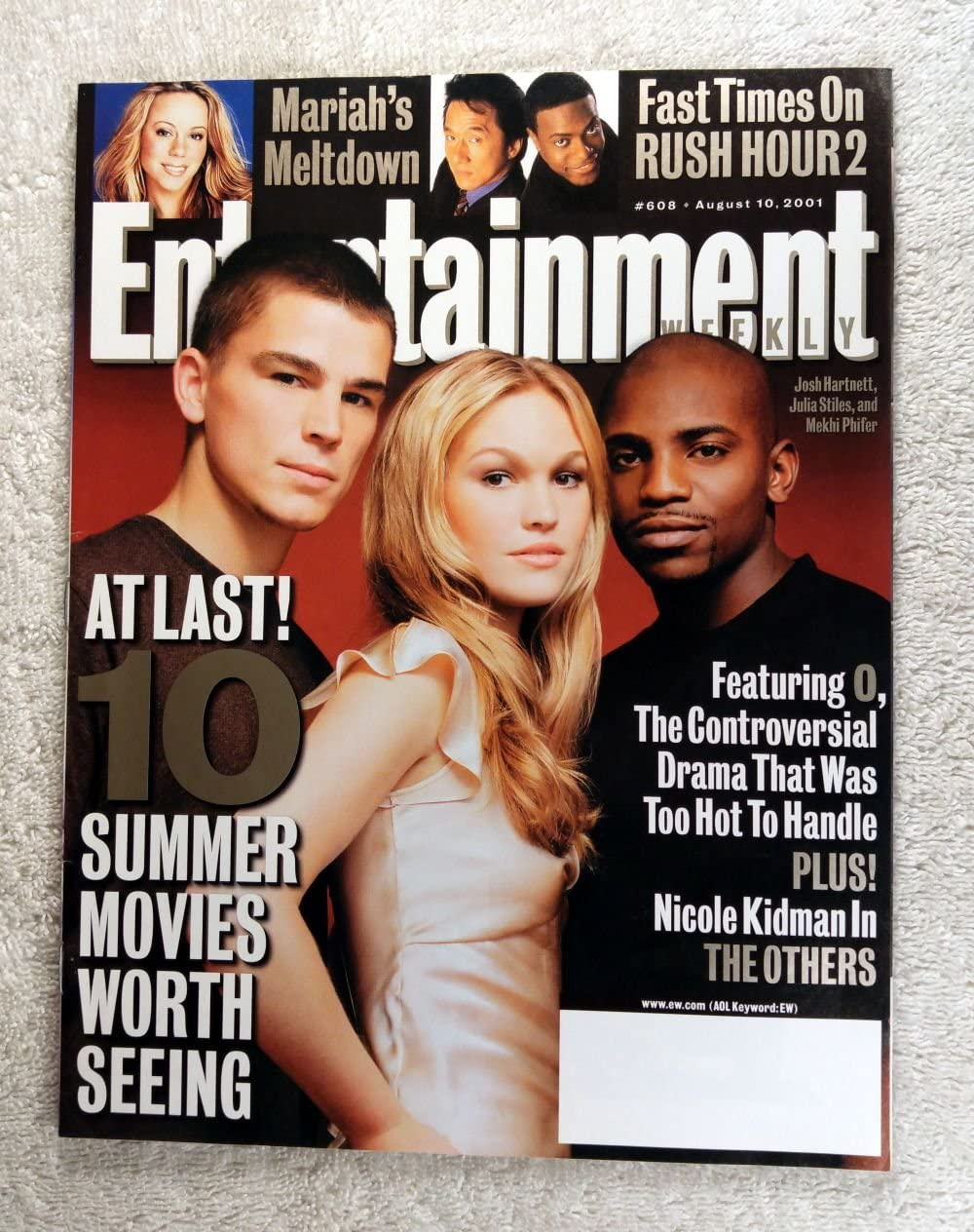 Josh Hartnett Julia Stiles Mekhi Phifer O The Controversial Drama That Was Too Hot To Handle Entertainment Weekly 608 August 10 2001 Rush Hour 2 Article At Amazon S Entertainment Collectibles Store