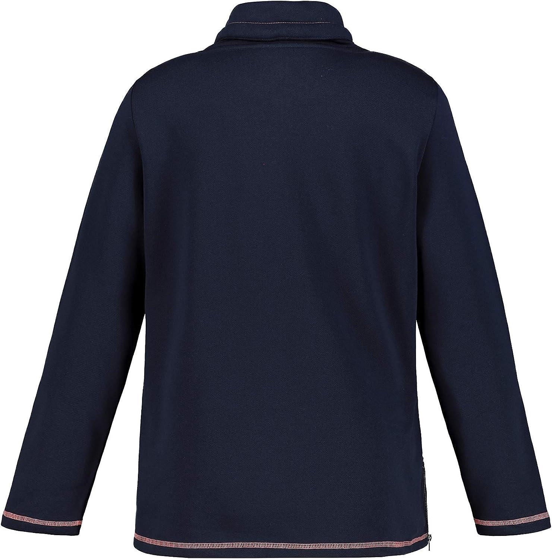 Ulla Popken Damen Größen Sweatshirt Blau (Marine 74913676)