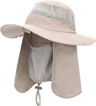 UV Protect Hat Fishing Hiking Outdoor Travel Summer Sun Cap Wide Brim Unisex NEW