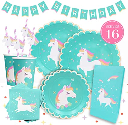 Amazon.com: Hermoso Unicornio Party Supplies by Gooji ...