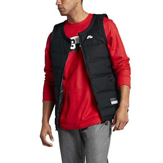 7917c4e21502 Amazon.com  Nike Men s Air Vest Insulated Zippered Pockets Black ...