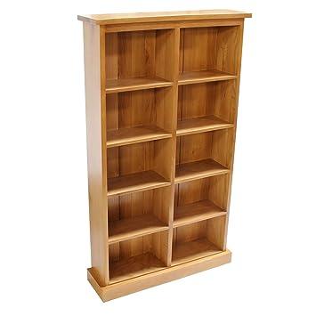 Oak DVD Storage Tower Unit Holds 190 DVDu0027s Or 260 CDu0027s
