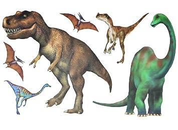 Unbekannt 6 Tlg Set Fensterbilder Sticker Dinosaurier Dinos