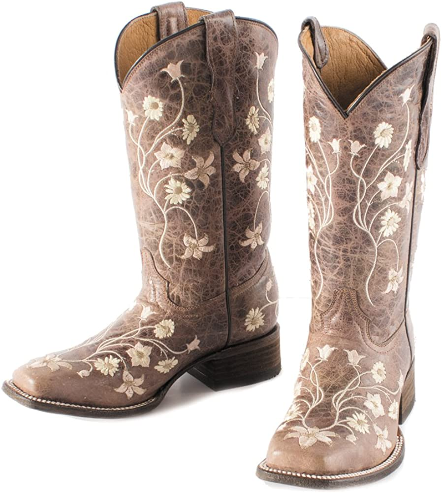 sneakers authorized site outlet for sale Amazon.com | CORRAL Girls' Light Embroidery Cowgirl Boot Square ...