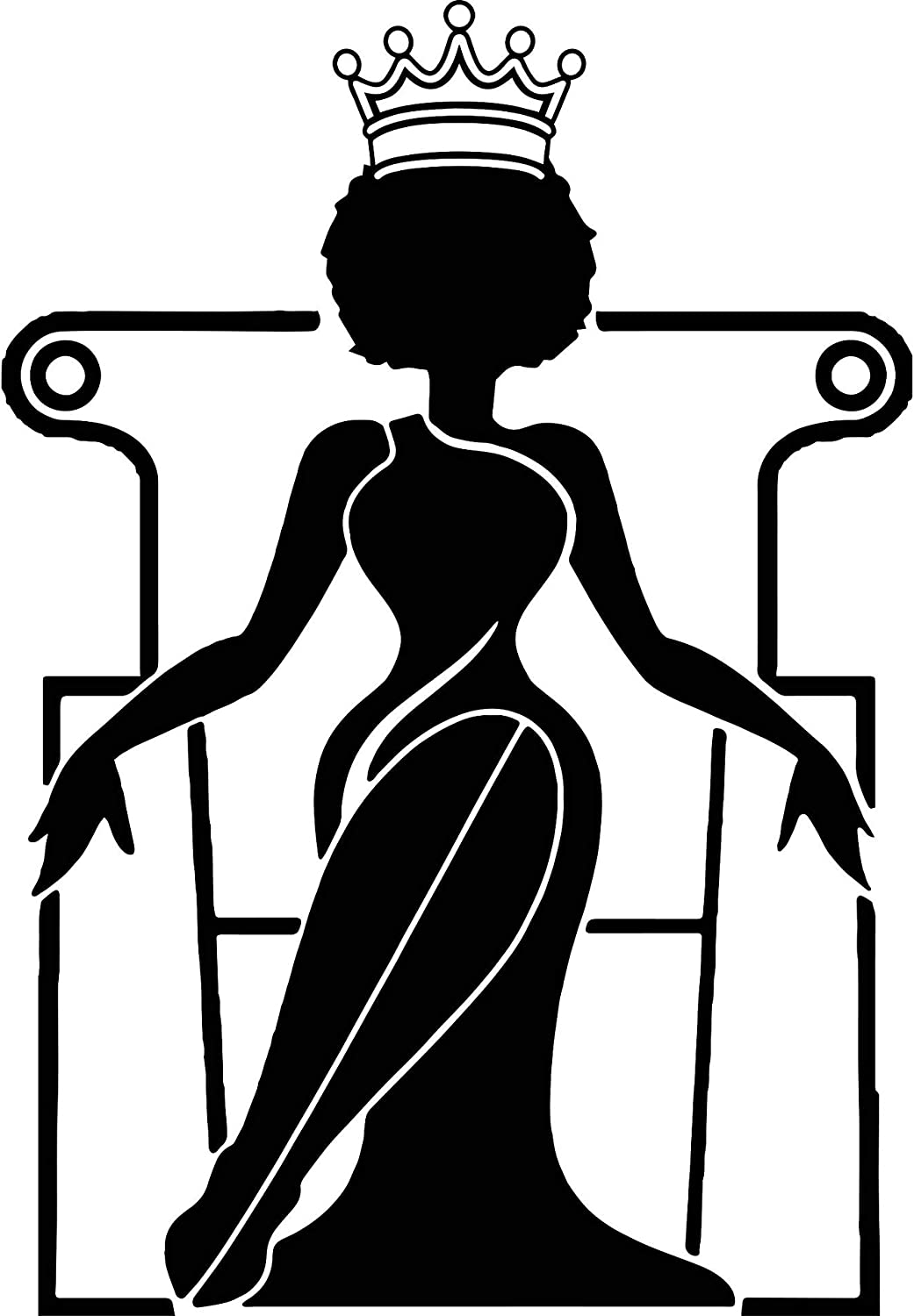 Amazon Com Evelyndavid Black Woman Stylish Princess Princess Queen Afro Hair Beautiful African American Female Lady Sticker Vinyl Decal Vector Clipart Digital Circuit Cut Cutting Kitchen Dining