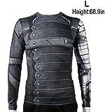 Rulercosplay Civil War Winter Soldier Shirt Long Sleeves Sport Shirt (L)
