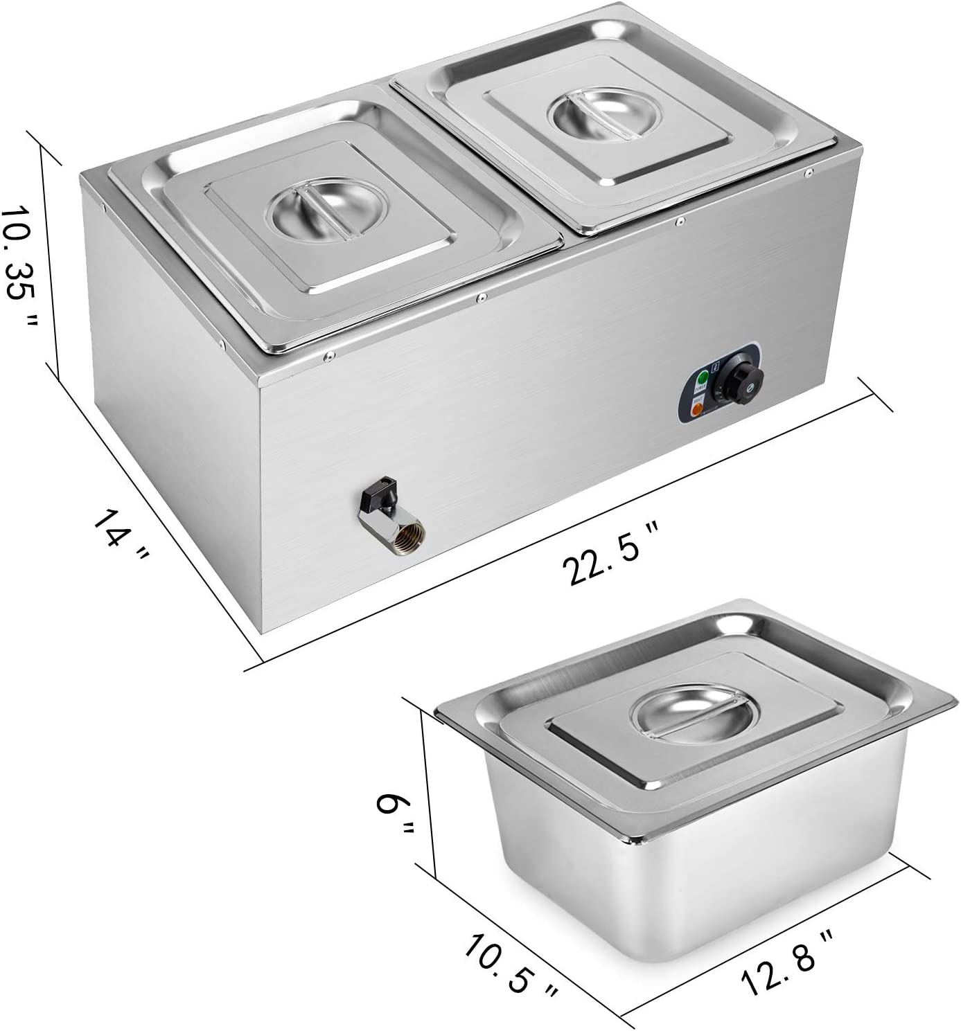 Commercial Electric Chocolate Warmer Boiler Temperer Machine Bain Marie Dry Heat