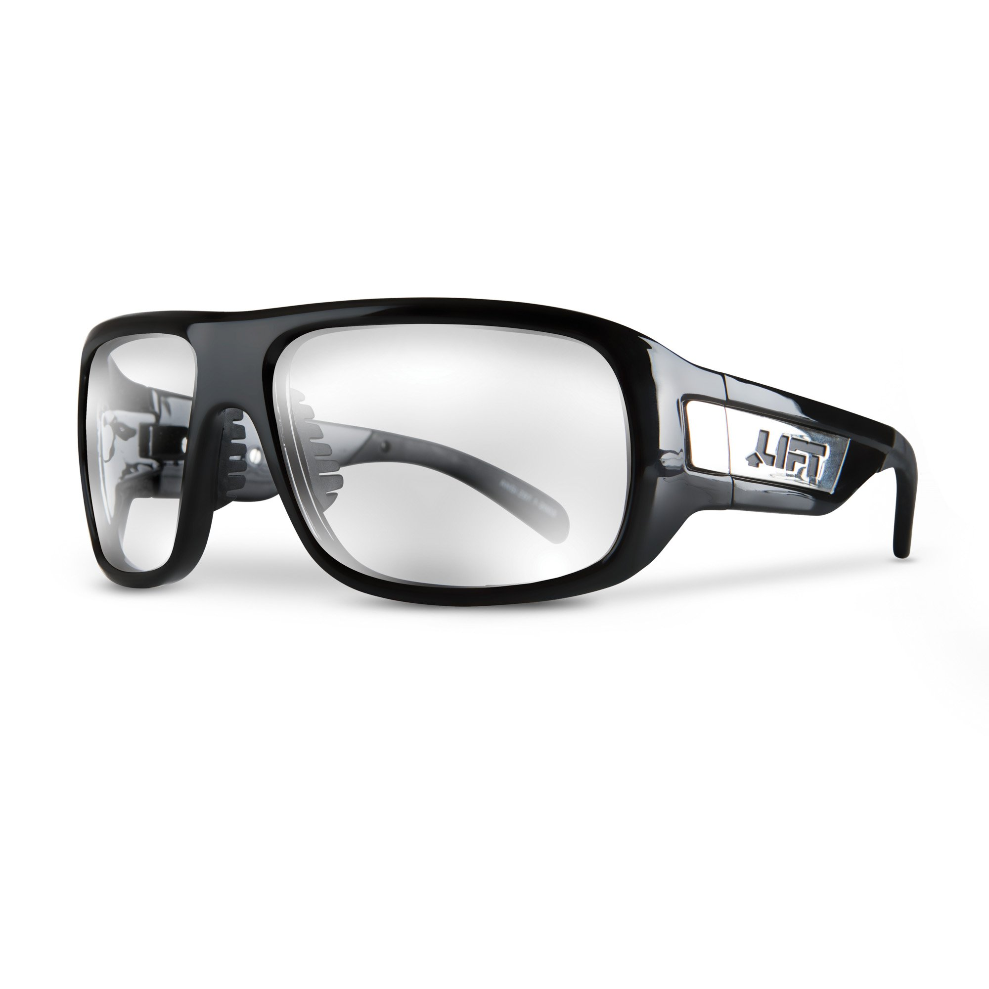 LIFT Safety Bold Safety Glasses (Black Frame/Clear Lens)