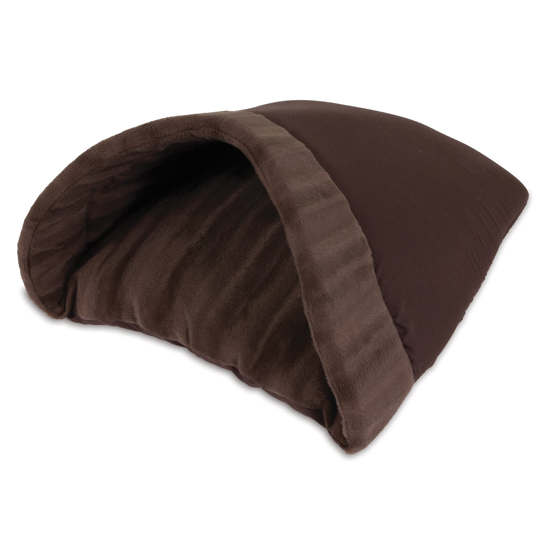 Aspen Pet Kitty Cave, 16-Inch by 19-Inch, Chocolate Brown by Petmate
