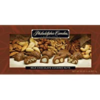 Philadelphia Candies Milk Chocolate Covered Assorted Nuts, 2 Pound Gift Box (Almond, Brazil, Cashew, Hazelnut, Pecan, Walnut)