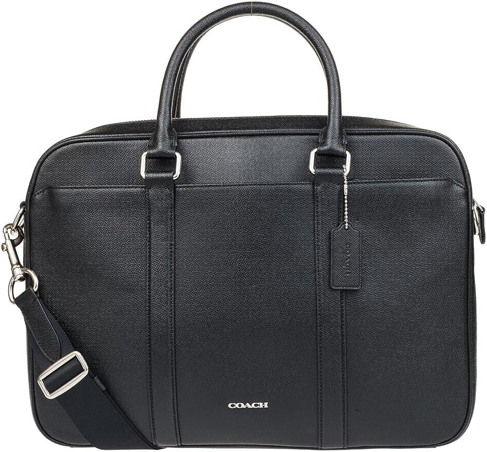 Coach Mens Business Briefcase Shoulder Bag Black