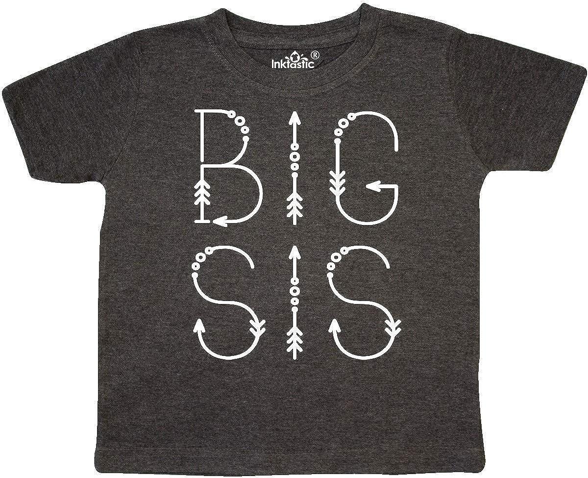 inktastic Big Sis Tribal Arrow Sister Outfit Toddler T-Shirt