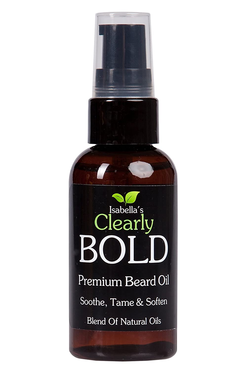 Isabella's Clearly BOLD, Premium Beard Oil and Conditioner. Natural Aromatic Essential Oils Moisturize, Tame, Hydrate, Prevent Itching for Healthy Hair Growth. Mustache, Face and Skin. Smell Great with Pine, Fir, Vanilla. 2 Oz Isabella' s Clearly BOLD