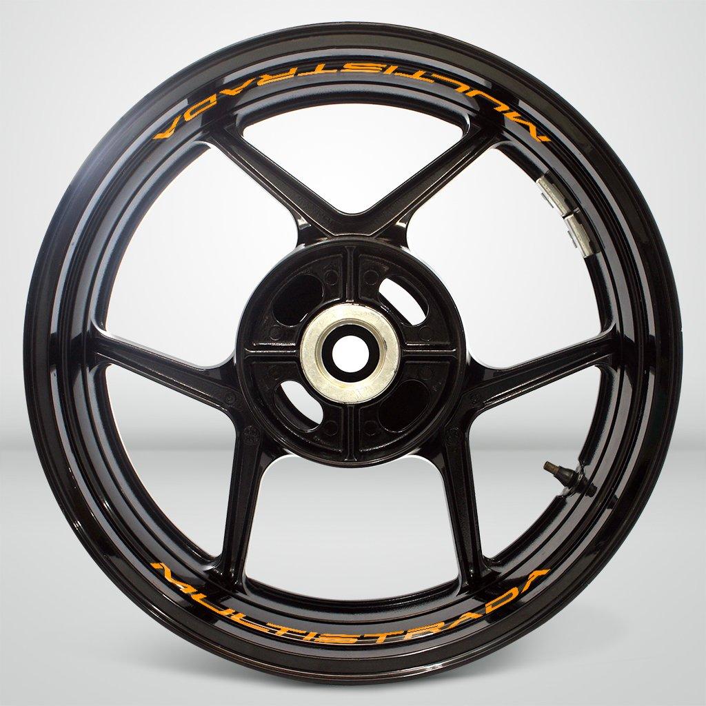 Bianco Lucido Ruote Moto Cerchione Inner Rim Tape Decalcomanie Adesivi per Ducati Multistrada