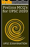 Prelims MCQ's for UPSC 2020