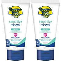 Banana Boat Banana Boat Simply Protect Sensitive Faces Reef Friendly Sunscreen Lotion, Broad Spectrum Spf 50, 25% Fewer…