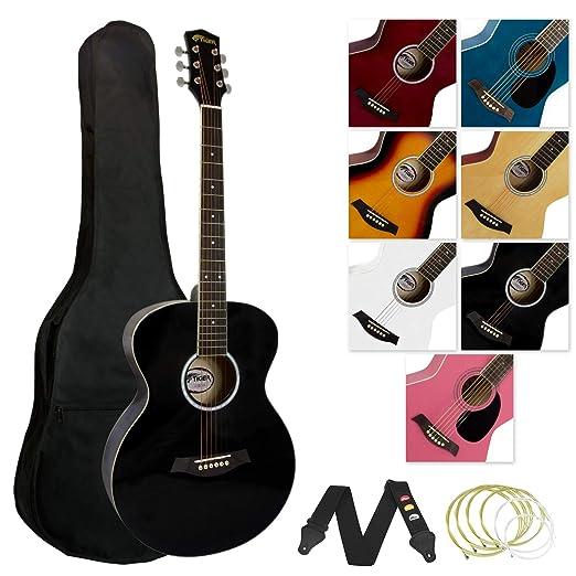 Tiger ACG2-BK - Guitarra acústica (incluye accesorios), color negro: Amazon.es: Instrumentos musicales