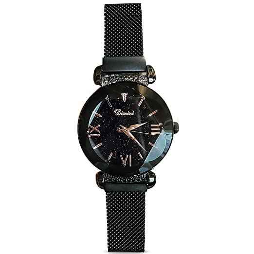 RORIOS Fashion Analogue Quartz Watches Magnetic Mesh Band Starry Sky Dial  Wrist Watches for Girl Women Waterproof  Amazon.co.uk  Watches ef3dae31089f