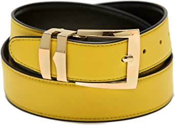 Mens Belt Reversible Wide Bonded Leather Silver-Tone Buckle TAUPE//Black