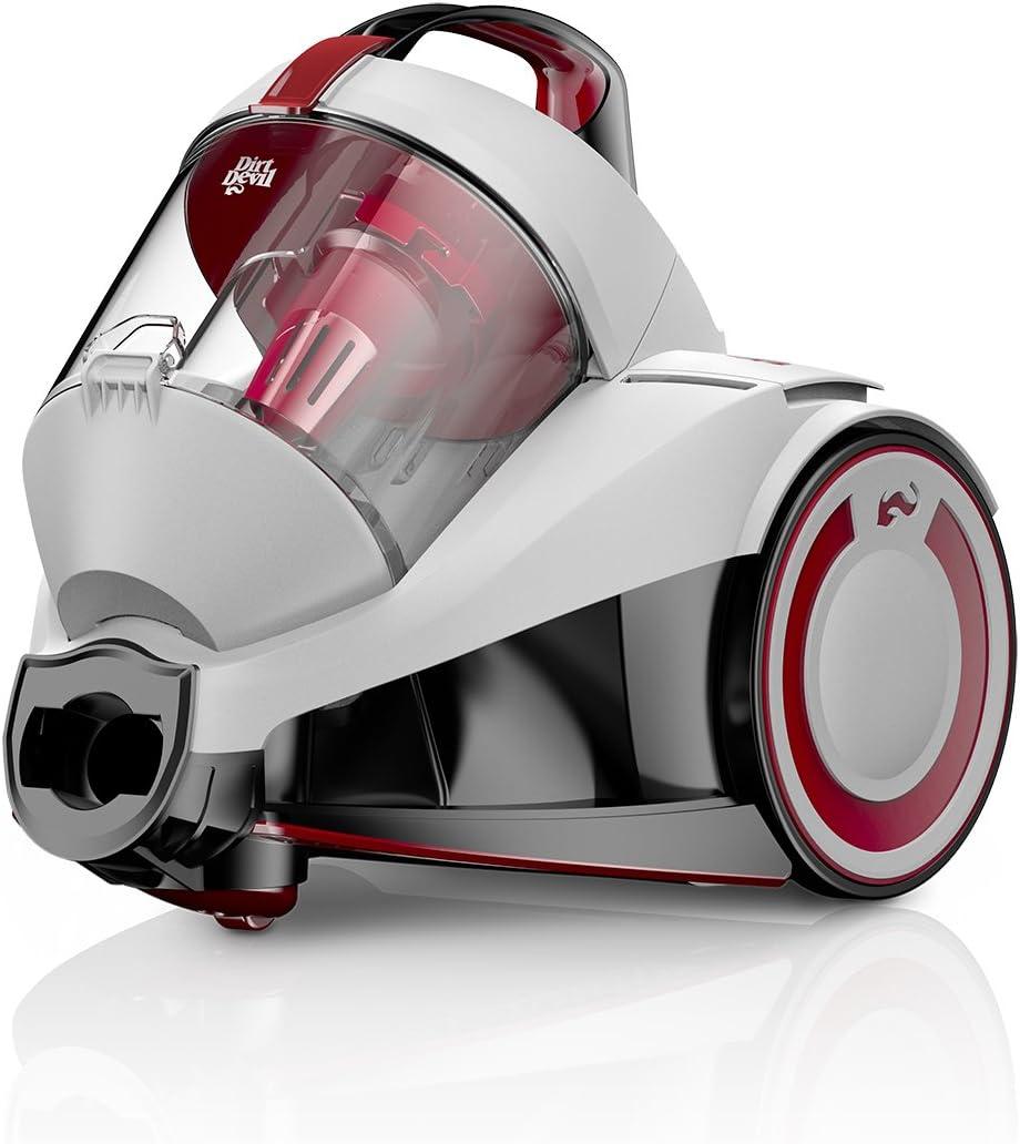 Dirt Devil Rebel 24 HE Aspirador sin bolsa, eco, ciclónico, 700 W, 1.8 litros, 79 Decibelios, Blanco: Amazon.es: Hogar