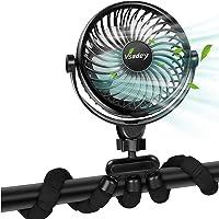 Mini Draagbare Ventilator, Batterij / USB-aangedreven Kinderwagenventilator, Flexibele Statiefventilator met…