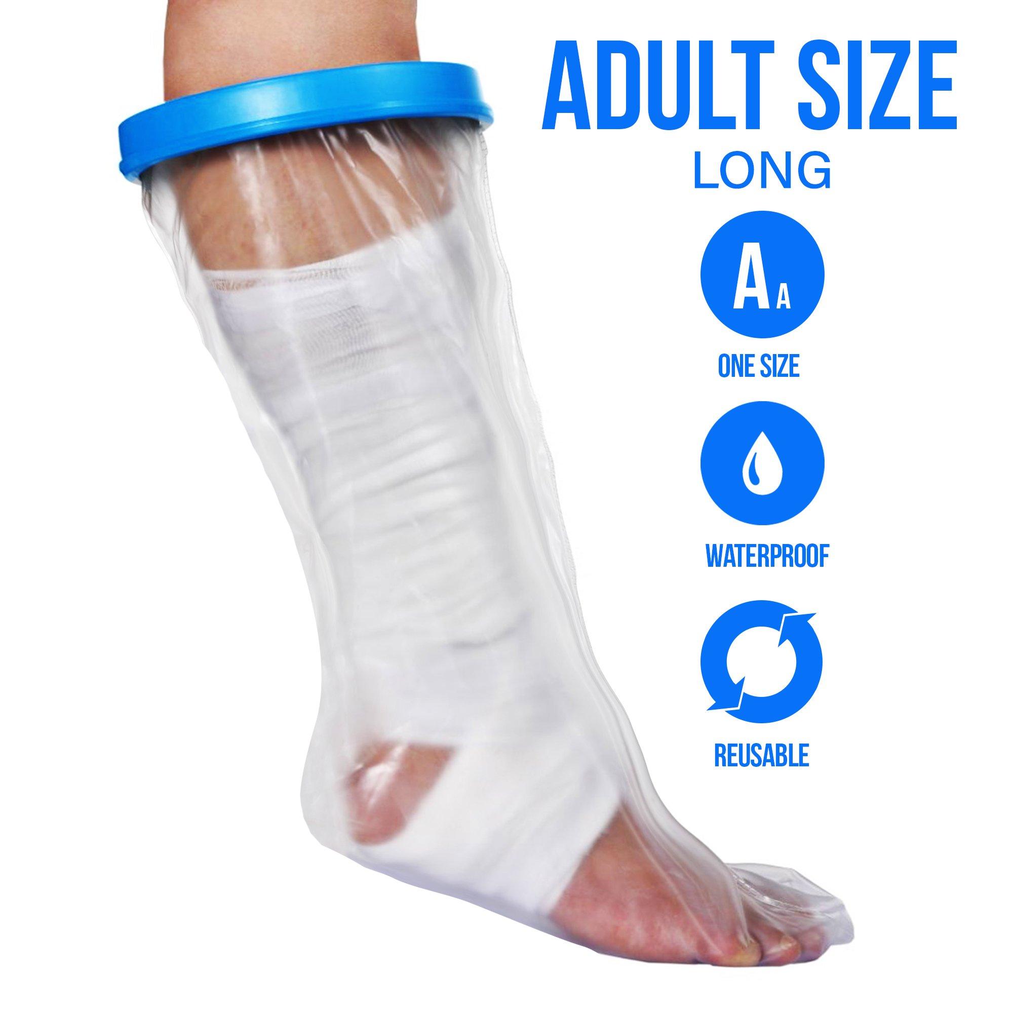 Waterproof Cast Cover for Shower & Bath - Adult Leg. (Large)