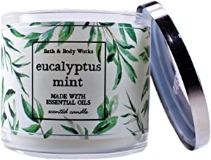 White Barn Bath and Body Works Eucalyptus Mint 3 Wick Scented Candle 14.5 Ounce