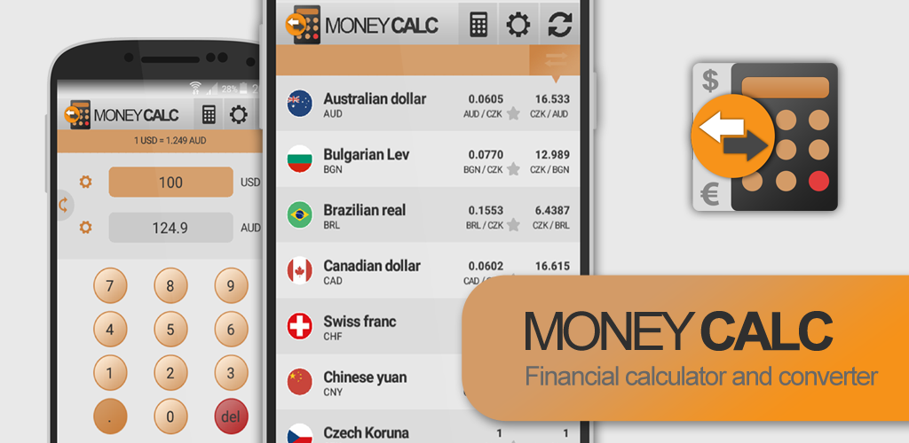 Local Currency Converter, Exchange rates, Calc