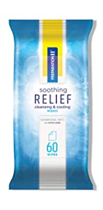 Preparation H Soothing Relief Cleaning and Cooling Wipes, 60-Count Pack, Flushable Wipes with Witch Hazel for Butt Itch and Aloe