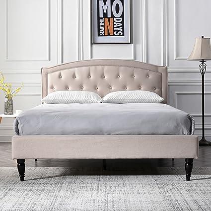 Upholstered platform bed frame Pedestal Image Unavailable Overstock Amazoncom Classic Brands Decoro Wellesley Upholstered Platform Bed