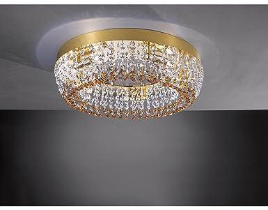 La lampada splendente luci con cristalli e specchio incassato