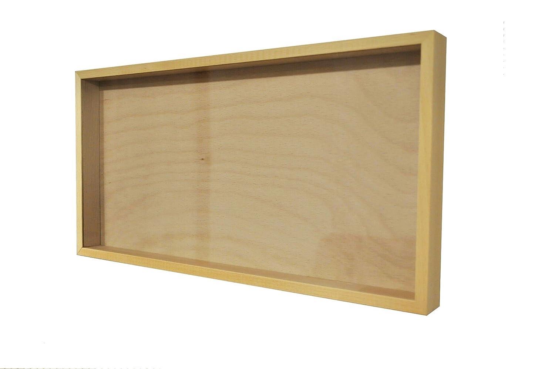 Tiefer 3D Bilderrahmen, Glas/Holz (Linde,GEÖLT), 51,6x26,5x50cm ...
