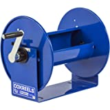 """Coxreels 117-3-250 Compact Hand Crank Hose Reel, 4,000 PSI, Holds 3/8"""" x 250' Length Hose, Hose Not Included"""