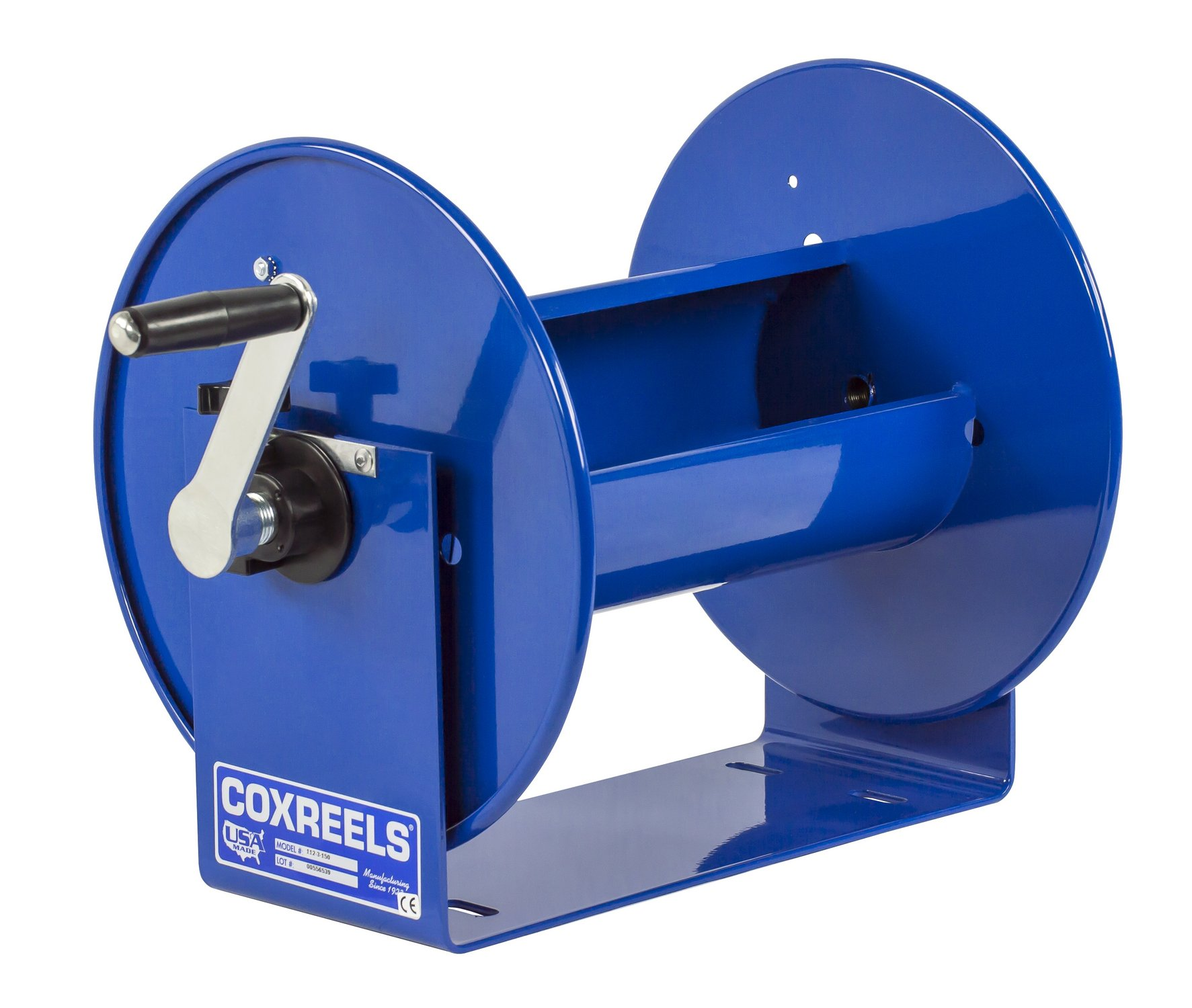 Coxreels 117-3-400 Compact Hand Crank Hose Reel, 4,000 PSI, Holds 3/8'' x 400' Length Hose, Hose Not Included
