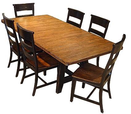 Amazon Com Intercon Furniture Winchester 7 Piece Rectangle Trestle