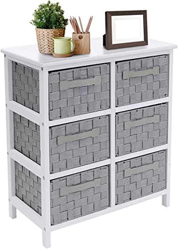Sorbus 6-Drawer Storage Wooden Chest Nightstand End Table