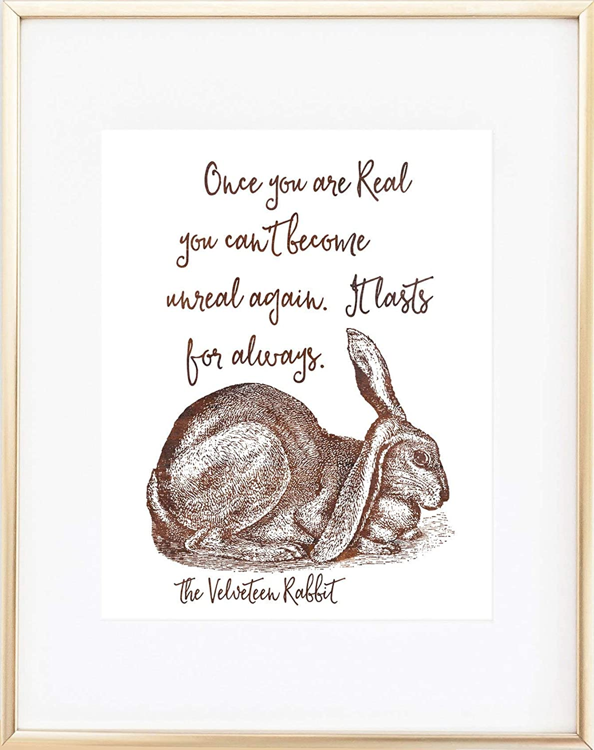 Velveteen Rabbit Quote Print Once You Are Real