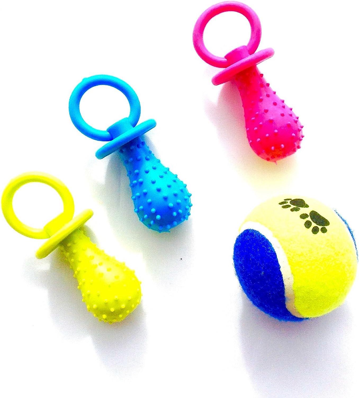 HC juguete chupete para perro mascota (3 unidades)una pelota de regalo: Amazon.es: Deportes y aire libre
