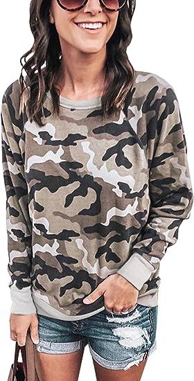 Ladies Long Sleeves 2 Pocket Leopard Army Printed Baggy Oversized Top Sweatshirt