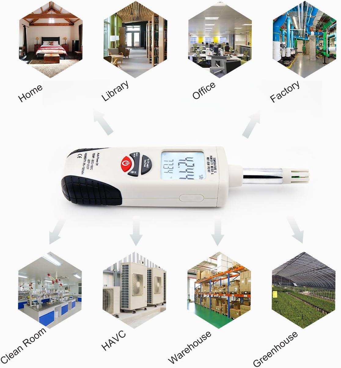 term/ómetros meteorol/ógicos para el hogar//Oficina//jard/ín Agatige Term/ómetro higr/ómetro Digital medidor de Humedad Pantalla LCD