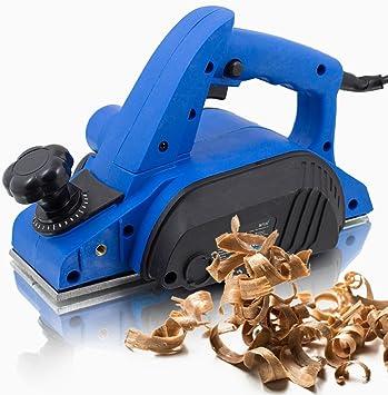 TROTEC Elektrohobel PPLS 10‑750 Handhobel DIY Hobel elektrisch 750 W, Hobelbreite 82 mm, Spantiefe 0 /– 3,0 mm, Falztiefe 0 /– 15 mm