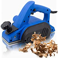 BITUXX® Elektrohobel 600W Hobel elektrisch 82 mm Falzhobel Stufenhobel Handhobel Fräse Hobelbreite: 82mm Spantiefe: 0-2mm Falztiefe: 10mm