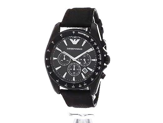 Amazon.com: Emporio Armani Mens AR6131 Sport Black Nylon Quartz Watch: Emporio Armani: Watches