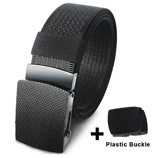 Hoanan Nylon Web Tactical Belt, Military Webbing Heavy duty Riggers Belt for Men