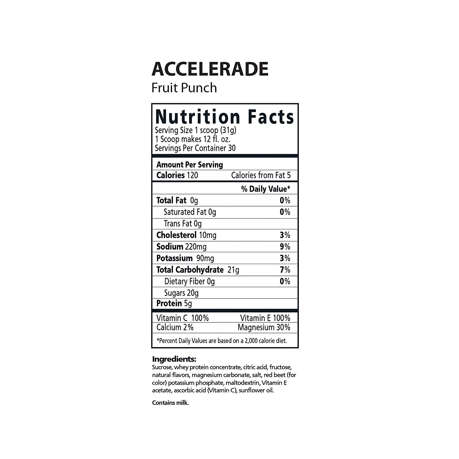 PacificHealth Accelerade, All Natural Sport Hydration Drink Mix with Protein, Carbs, and Electrolytes for Superior Energy Replenishment – Net Wt. 2.06 lb., 30 serving Fruit Punch