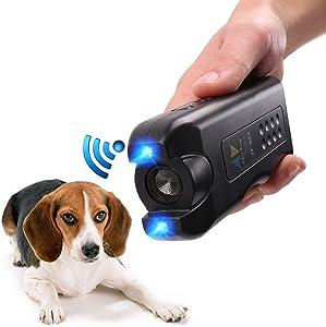 APlus+ Handheld Dog Repellent, Ultrasonic Infrared Dog Deterrent, Bark Stopper + Good Behavior Dog Training (Classic)