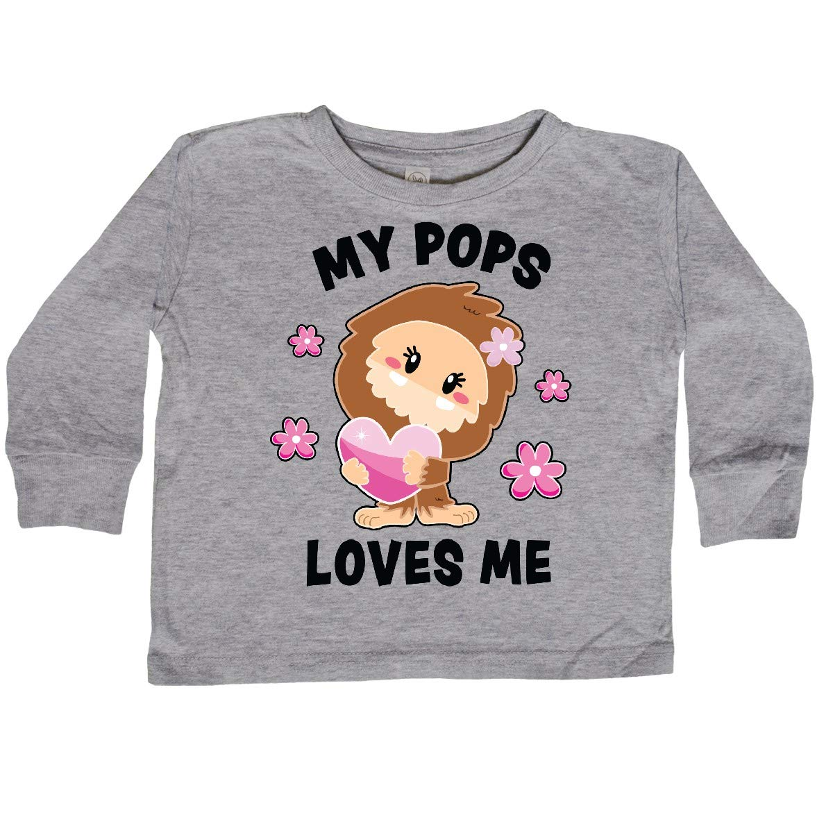 inktastic My Pops Loves Me with Bigfoot Toddler Long Sleeve T-Shirt