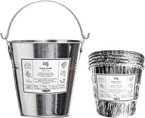 Entsong Grill Grease Bucket Liners Replacement Parts Compatible with Traeger Grills HDW152 & Oklahoma Joe's & Z Grill Pellet Smoker, with 5 Pack Grease Bucket