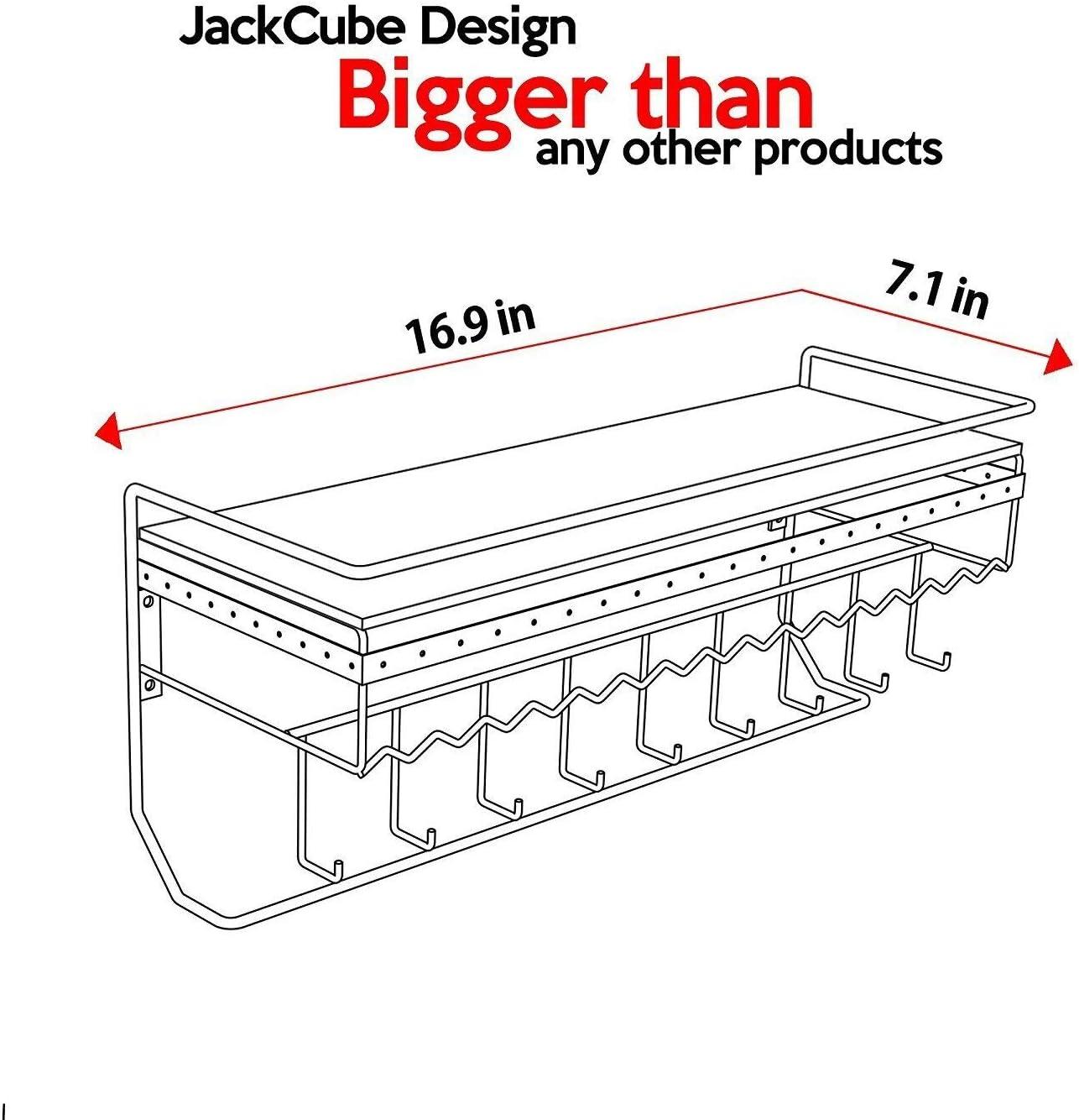 collar organizador de joyer/ía estante pendientes titular JackCubeDesign montado en la pared cl/ásico de hierro negro dise/ñador hecho estante de almacenamiento de cosm/éticos w MK238A
